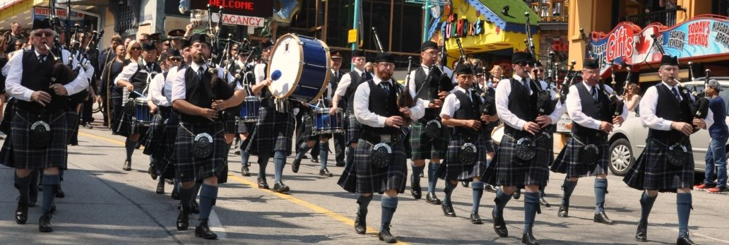 NRP Pipe Band marching