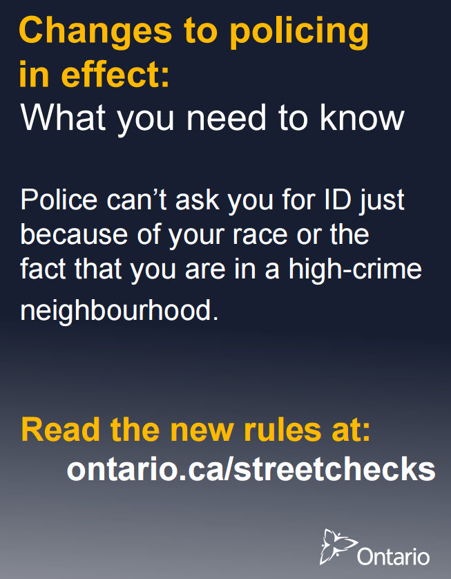 Street Checks information poster