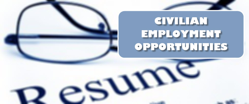 Civilian Employment Opportunities banner picture