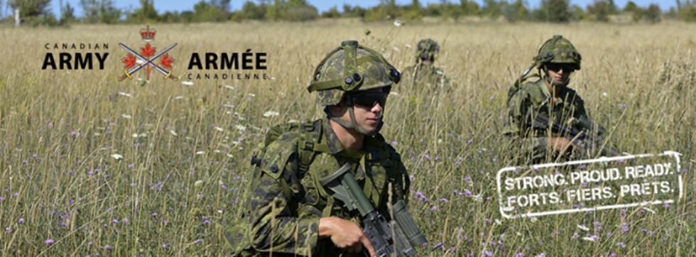 Canadian soldiers in field