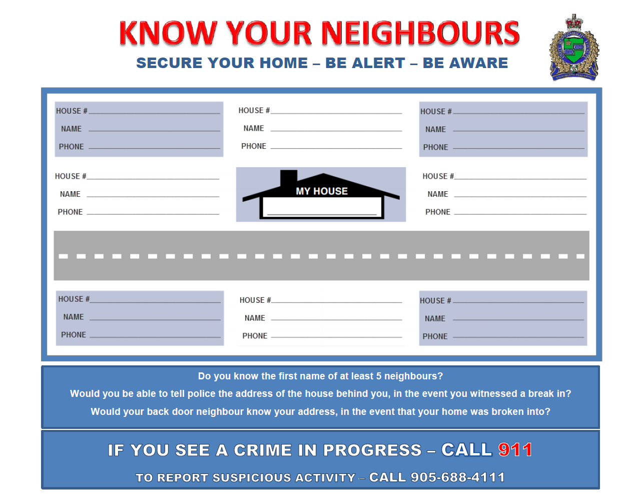 Know Your Neighbours Card