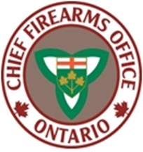 Chief Firearms Office Ontario logo with crest