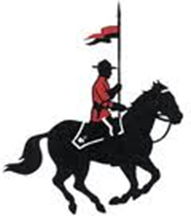 Royal Canadian Mounted Police logo with mounted officer on horse