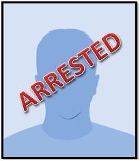 arrested male silhouette