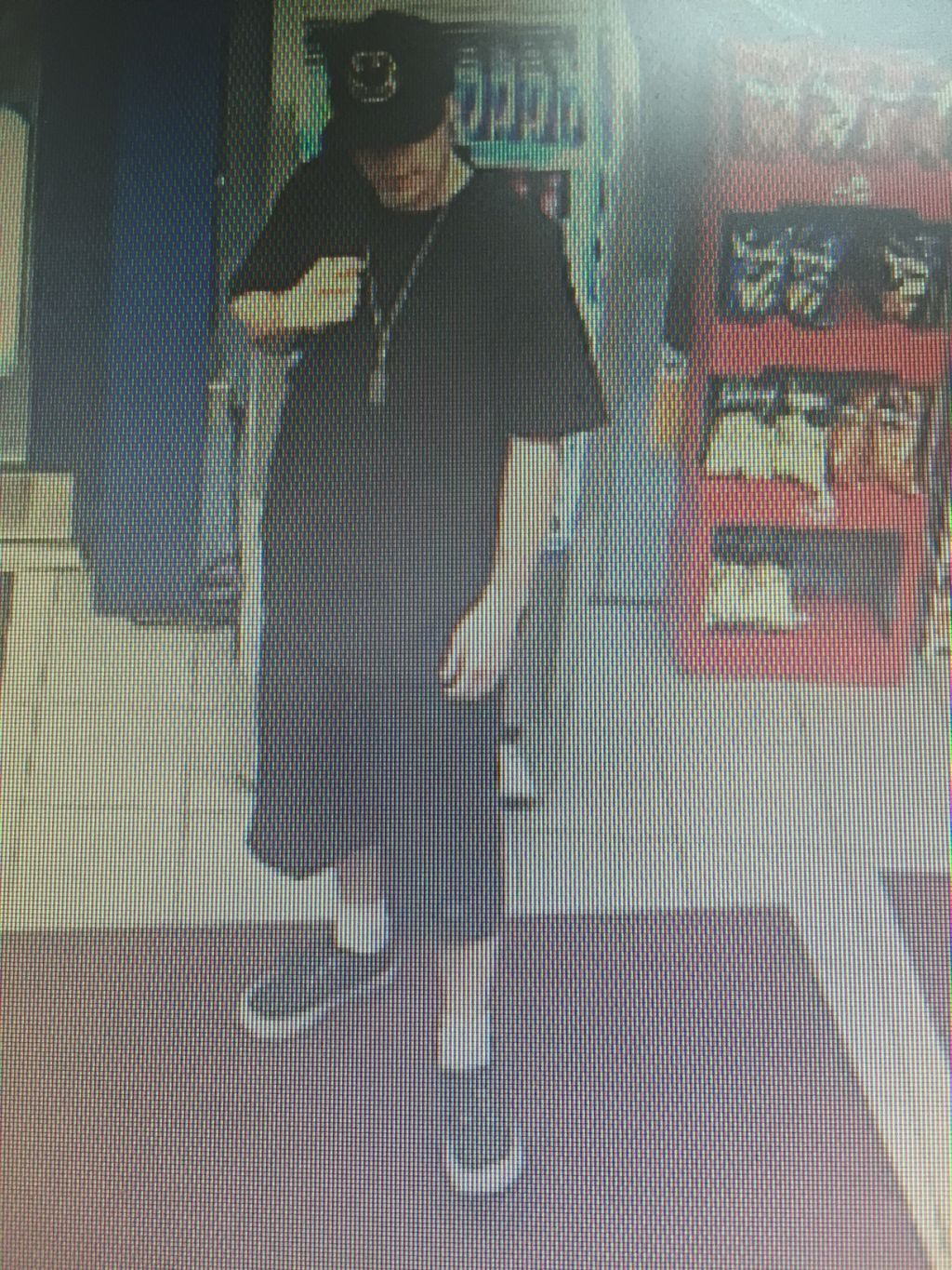 suspect - theft of donation box