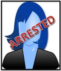 female arrested silhouette