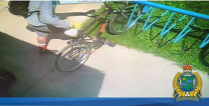 suspect photo with bike