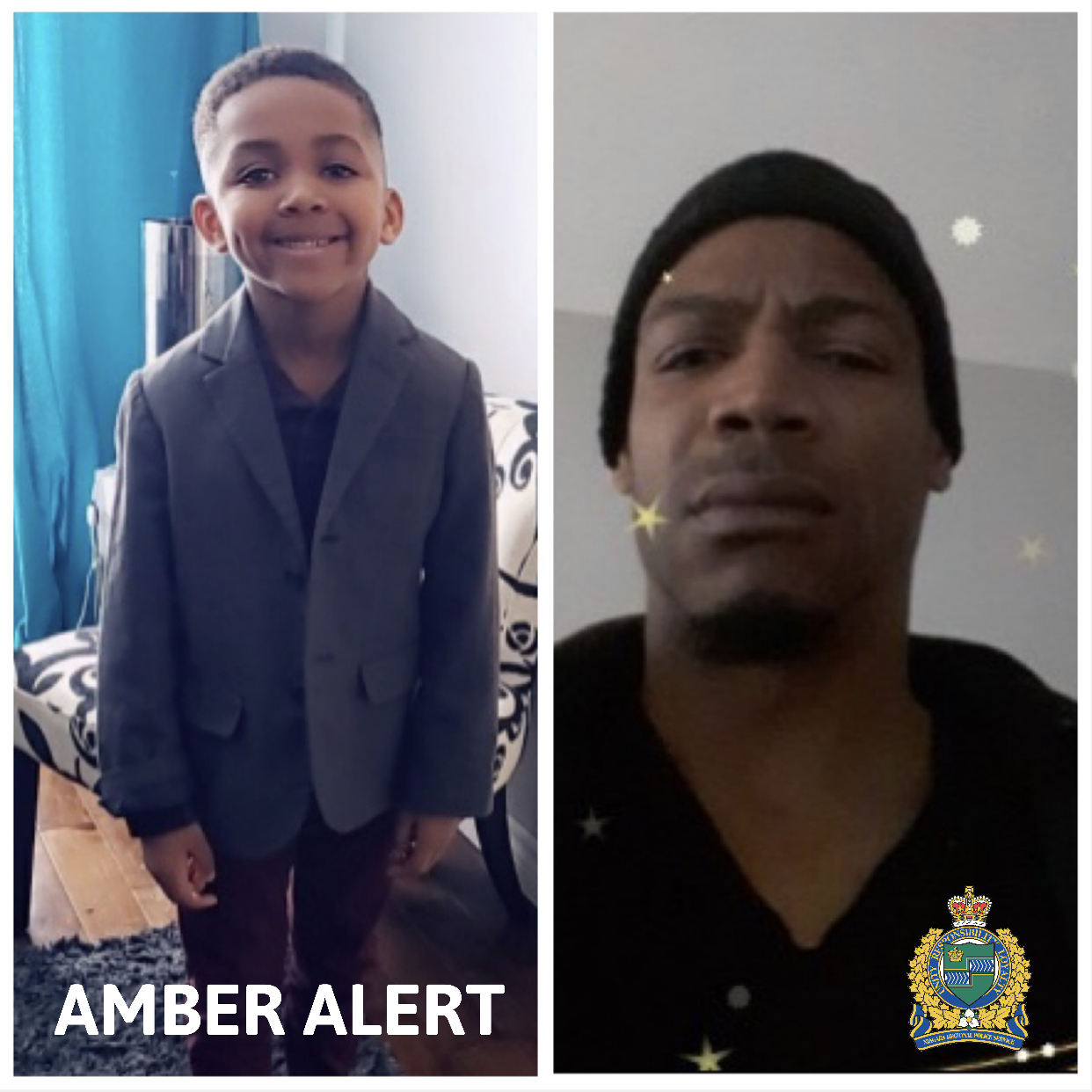 Missing boy and father